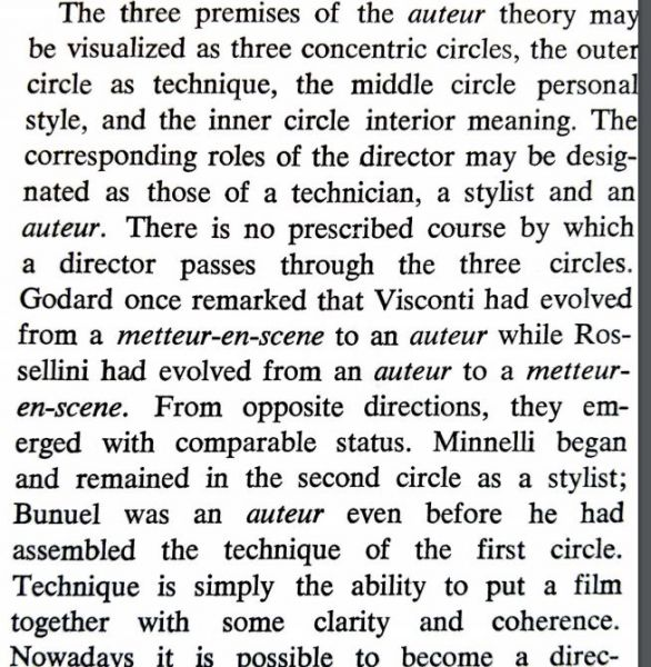 "Andrew Sarris, ""Notes on the Auteur Theory,"" Film Culture, No. 27 (Winter 1962/3), 7."