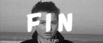 Screenshot of the end credits of The 400 Blows.