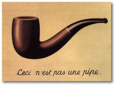René Magritte's The Treason of Images (1928-9).